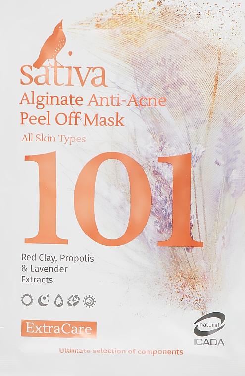 Маска альгинатная анти-акне №101 - Sativa Extra Care Alginate Anti-Acne Peel Off Mask