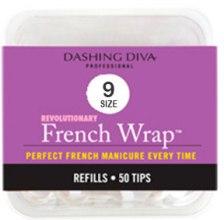 Парфумерія, косметика Тіпси вузькі - Dashing Diva French Wrap White 50 Tips (Size - 9)