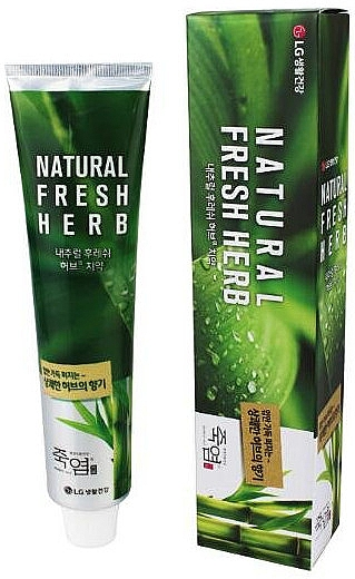 "Зубная паста ""Бамбуковая соль"" - LG Household & Health Perioe Bamboo Salt Natural Fresh Herb"