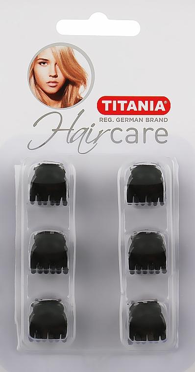 Заколки для волос, 1,5см, 6шт., черные - Titania