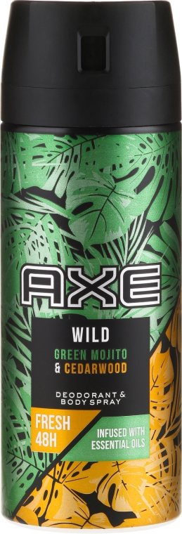 Антиперспирант-аэрозоль - Axe Wild Green Mojito & Cedarwood