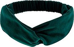 "Духи, Парфюмерия, косметика Повязка на голову, трикотаж переплет, изумруд ""Knit Twist"" - MakeUp Hair Accessories"