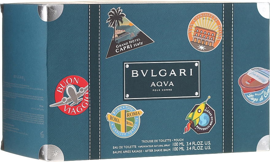 Bvlgari Aqva Pour Homme - Набор (edt/100ml + ash/balm/100ml + bag)
