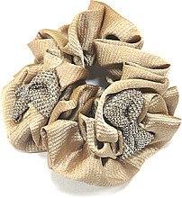 Духи, Парфюмерия, косметика Резинка для волос P4797-3, d-10,5 см, бежевая - Akcent