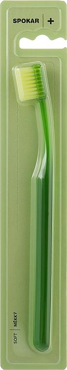 """Зубная щетка """"Plus"""", мягкая, зеленая - Spokar Plus"""