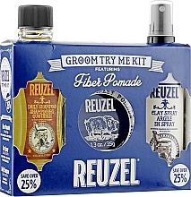 Парфумерія, косметика Набір - Reuzel Fiber Try Me Kit (h/pomade/35g + h/spray/100ml + shm/100ml)
