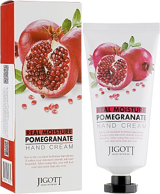 Крем для рук с экстрактом граната - Jigott Real Moisture Pomegranate Hand Cream