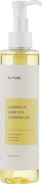 Успокаивающее очищающее гидрофильное масло с календулой - IUNIK Calendula Complete Cleansing Oil