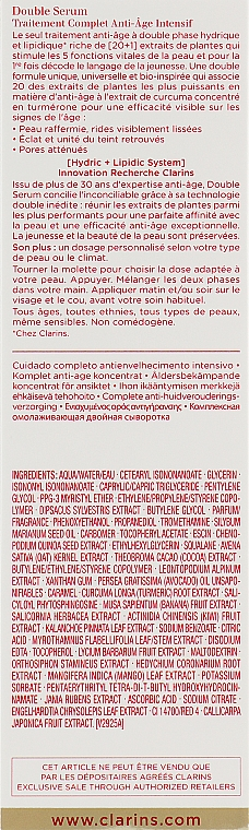 Двойная сыворотка - Clarins Double Serum Complete Age Control Concentrate — фото N4