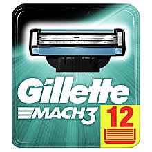 Духи, Парфюмерия, косметика Сменные кассеты для бритья, 12 шт. - Gillette Mach3 XXL
