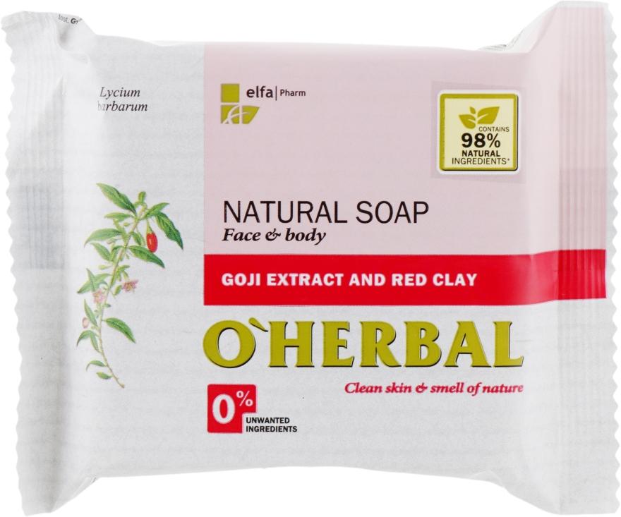 Натуральное мыло с экстрактом годжи и красной глиной - O'Herbal Soap — фото N1