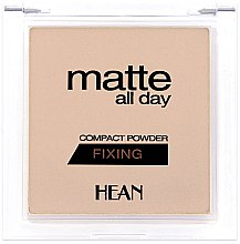 Духи, Парфюмерия, косметика Пудра для лица - Hean Matte All Day Compact Powder