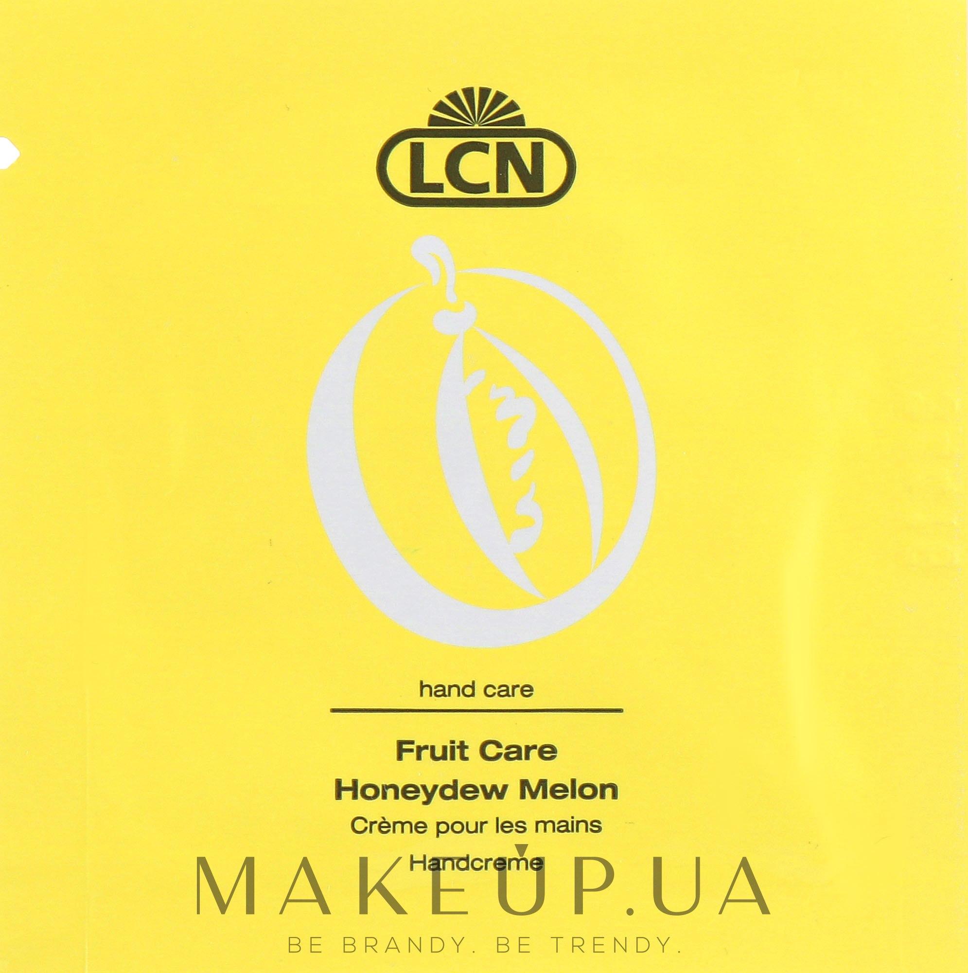Крем для рук с ароматом дыни - LCN Honeydew Melon Hand Cream (пробник) — фото 3ml