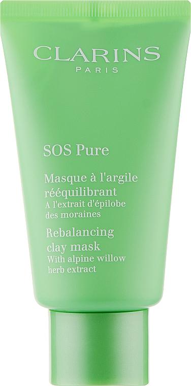 Маска для лица, очищающая - Clarins SOS Pure Emergency Mask with Rebalancing Clay