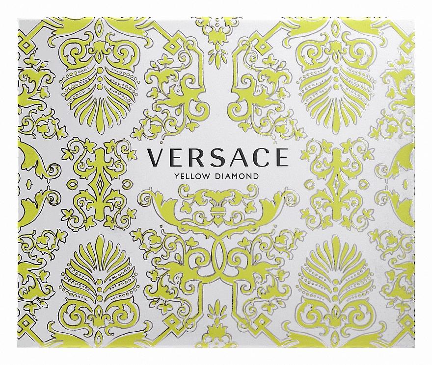 Versace Yellow Diamond - Набор (edt/50ml + b/l50ml + sh/g50ml)