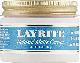 Духи, Парфюмерия, косметика Матовая помада для укладки волос - Layrite Natural Matte Cream