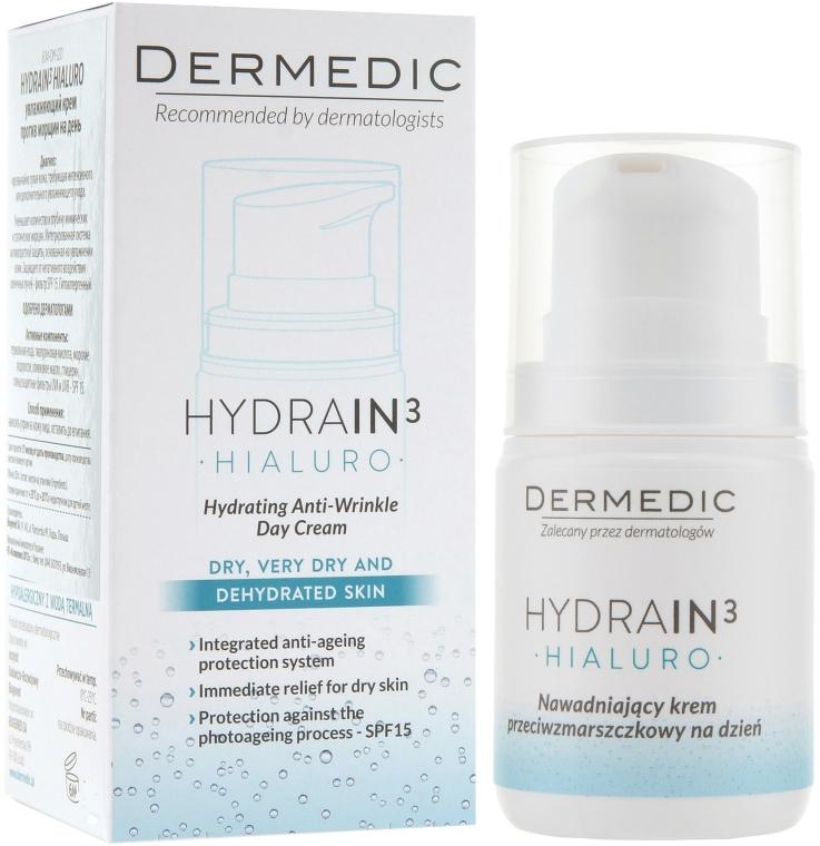 Дневной увлажняющий крем от морщин - Dermedic Hydrain 3 Hialuro Anti Winkle Day Cream