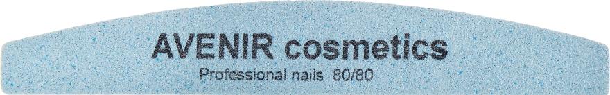 Пилка для ногтей, месяц, 80/80 - Avenir Cosmetics