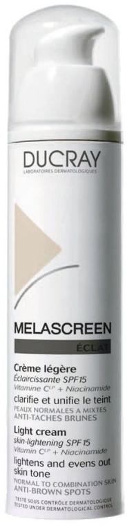 Легкий крем против пигментации SPF 15 д/нормальной и комбинированной кожи лица - Ducray Melascreen Eclat Lightening Light Cream SPF15
