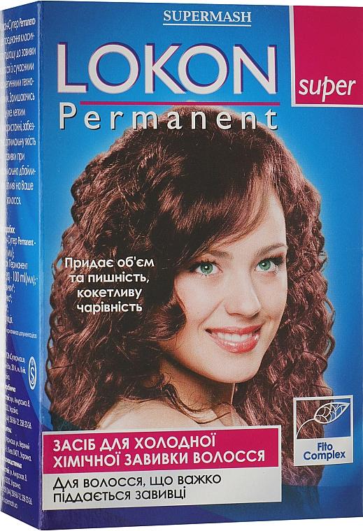 Средство для химической завивки для волос, которые тяжело поддаются завивке - Supermash Lokon Super Permanent