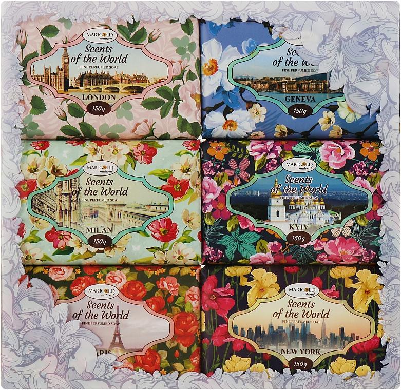 "Набор ""Ароматы мира"" - Marigold Natural Soap (6х150g)"