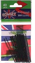 Духи, Парфюмерия, косметика Шпильки волнистые черные 65 мм, 40 шт. - Ronney Professional Black Small Set Of Hair Pins