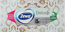 Духи, Парфюмерия, косметика Салфетки косметические трехслойные, бирюзовая упаковка, 90шт - Zewa Deluxe