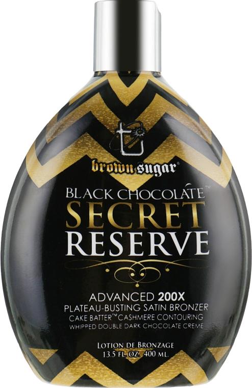 Крем для моментального загара в солярии и активизации метаболизма в клетках - Brown Sugar Black Chocolate Secret Reserve 200x