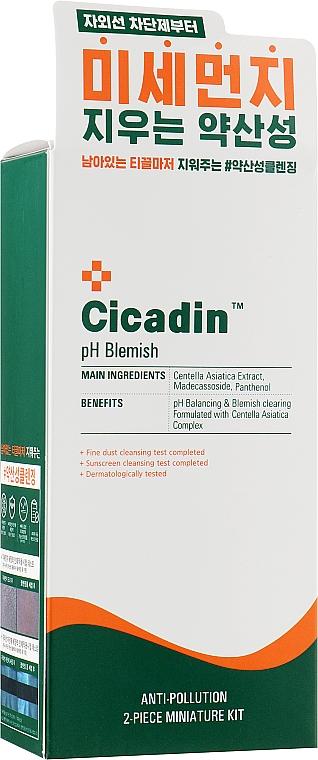 Набор - Missha Cicadin pH Blemish Kit (cleans/foam/70ml+cleans/oil/30ml)
