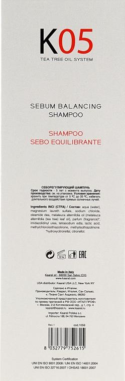 Шампунь для восстановления баланса секреции сальных желез - Kaaral К05 Sebum Balancing Shampoo — фото N3