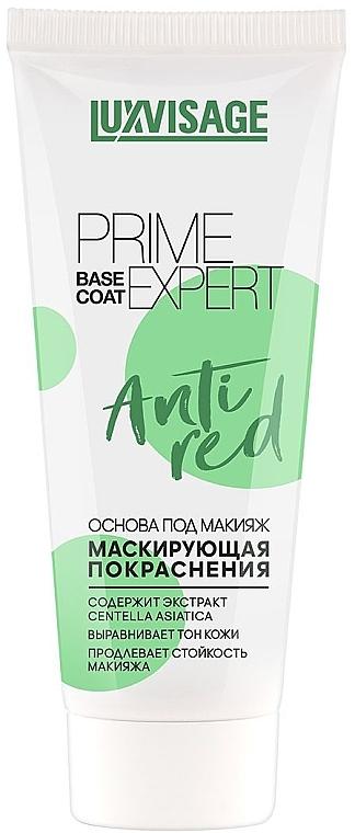 Основа под макияж маскирующая покраснения - Luxvisage Prime Expert Anti Red Base Coat