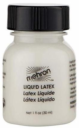 Жидкий латекс прозрачный с кисточкой - Mehron Latex Liquid Clear