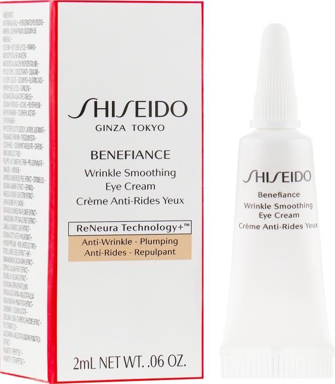 Крем против морщин вокруг глаз - Shiseido Benefiance Wrinkle Smoothing Eye Cream (пробник)