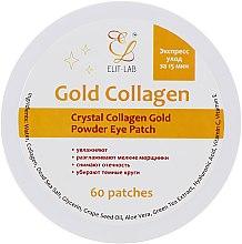 Духи, Парфюмерия, косметика Коллагеновая маска с био-золотом для глаз - Elit-Lab Crystal Collagen Gold Powder Eye Mask