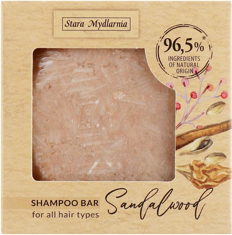 "Шампунь твердый ""Сандаловое дерево"" - Stara Mydlarnia Bodychillout Sandalwood Shampoo Bar"
