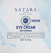 Духи, Парфюмерия, косметика Крем для кожи вокруг глаз - Satara Dead Sea Anti Wrinkle Eye Cream (пробник)