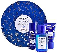 Духи, Парфюмерия, косметика Acqua di Parma Blu Mediterraneo Chinotto di Liguria - Набор (edt/75ml + b/lot/50ml + sh/gel/40ml)