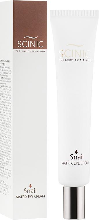 Крем для глаз с муцином улитки - Scinic Snail Matrix Eye Cream