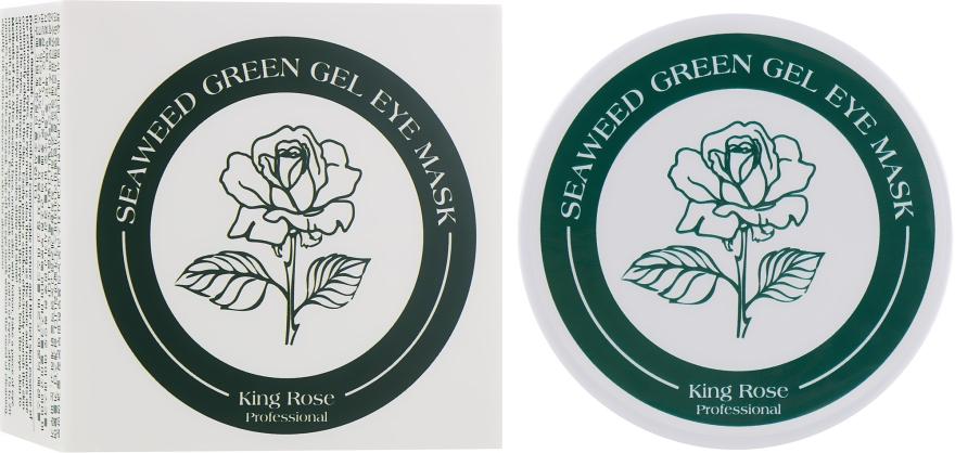 Гидрогелевые патчи для глаз антивозрастные от морщин с водорослями - King Rose Seaweed Green Gel Eye Mask