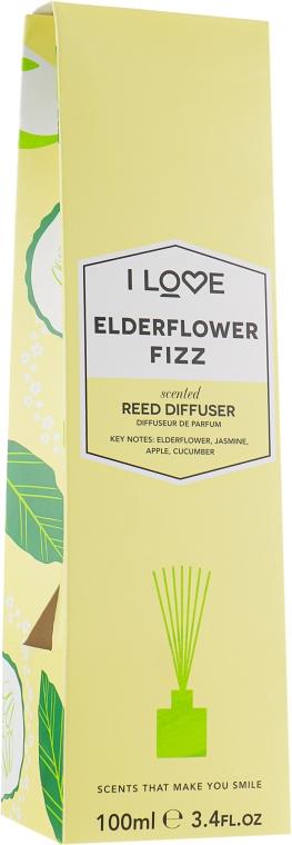 "Диффузор с палочками ""Коктейль из бузины"" - I Love Elderflower Fizz Reed Diffuser"