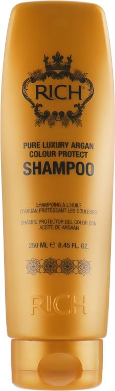 Шампунь для зашиты цвета волос - Rich Pure Luxury Argan Colour Protect Shampoo
