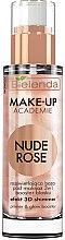 Духи, Парфюмерия, косметика Осветляющая основа для макияжа 3в1 - Bielenda Make-Up Academie Nude Rose