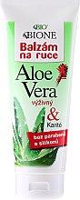 Духи, Парфюмерия, косметика Бальзам для рук увлажняющий - Bione Cosmetics Aloe Vera Nourishing Hand Ointment With Collagen