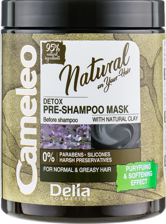 Маска перед использованием шампуня - Delia Cameleo Natural Detox Pre-Mask — фото N1