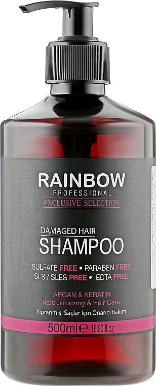 """Шампунь для поврежденных волос """"Арган и Кератин"""" - Rainbow Professional Exclusive Damaged Hair Shampoo"""