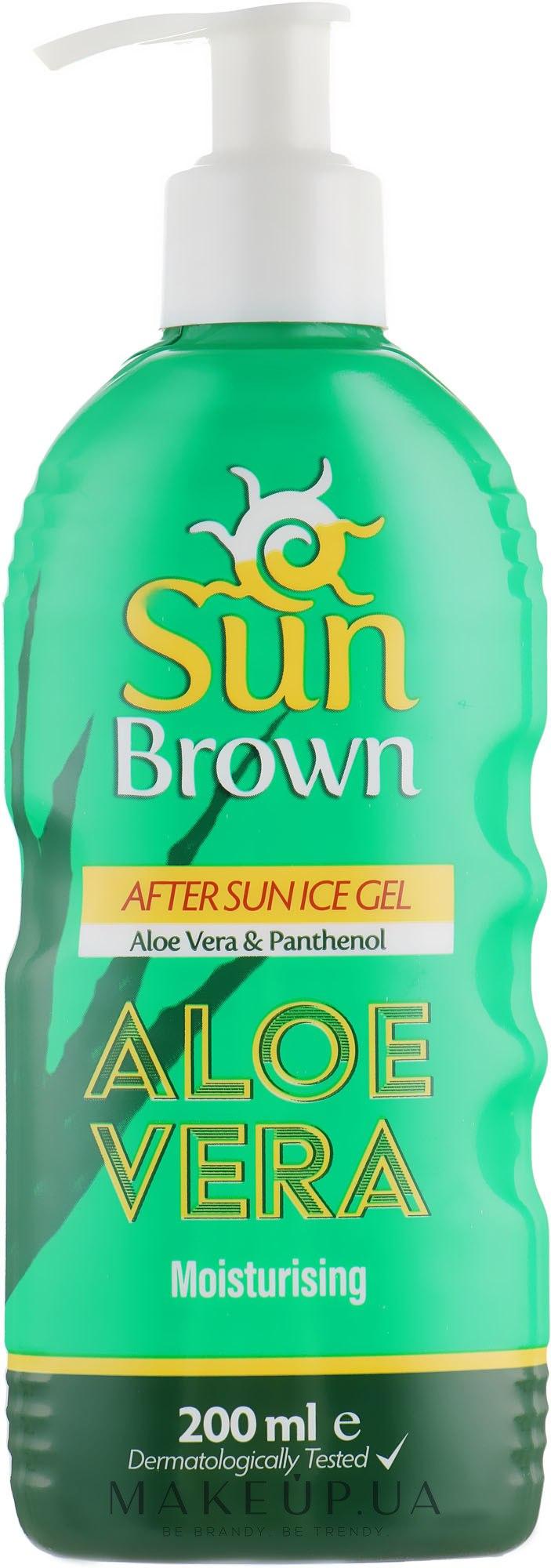 Увлажняющий гель с алое после загара - Sun Brown After Sun Aloe Vera Gel — фото 200ml