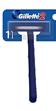Духи, Парфюмерия, косметика Одноразовый станок для бритья - Gillette 2 (x2)