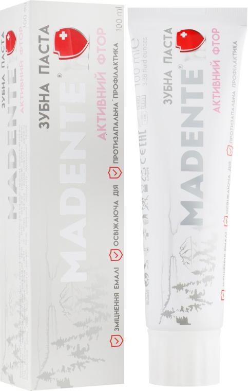 "Зубная паста ""Активный фтор"" - Madente Toothpaste Active Fluorine"