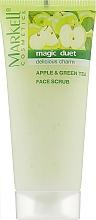 """Духи, Парфюмерия, косметика Скраб для лица """"Яблоко и зеленый чай"""" - Markell Cosmetics Magic Duet"""