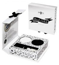 Духи, Парфюмерия, косметика Набор для макияжа глаз - Bronx Colors Black & White Pocket Set